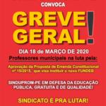 CARTAZ GREVE GERAL 18-03-2020