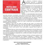 NOTA DAS CENTRAIS - CUT - QUARENTENA - PANDEMIA CORONAVIRUS