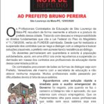 NOTA DE REPUDIO A BRUNO PEREIRA - SAO LOURENCO DA MATA 12-05-2020