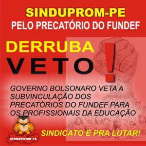 CARTAZ DERRUBA VETO - 15-09-2020