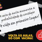 CARTAZ NAO A VOLTA AS AULAS NA PANDEMIA - 4